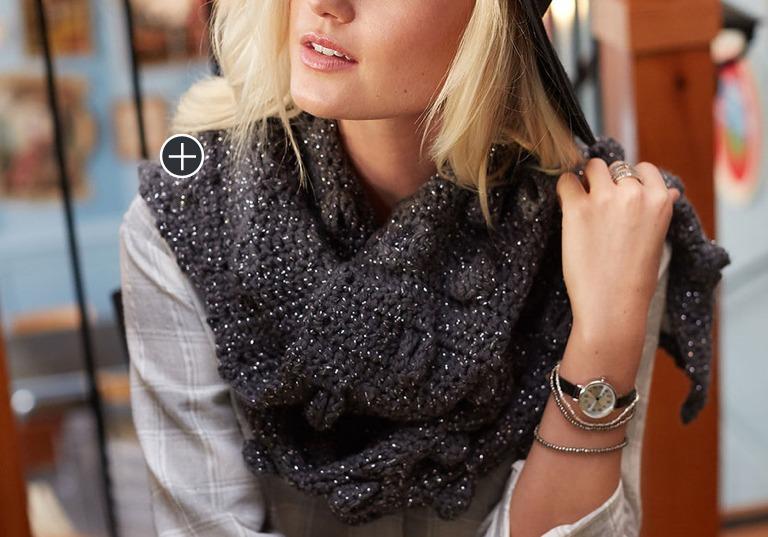 Easy Half Moon Crochet Scarf