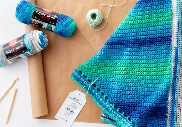 Easy Jamie's Round We Go Crochet Blanket
