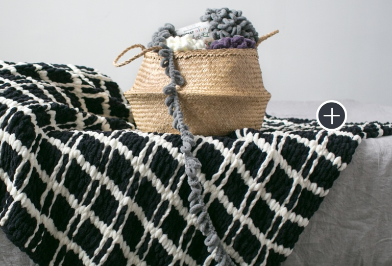 Bernat Blanket-EZ Mad for Plaid Blanket
