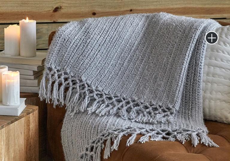 Easy Cozy Time Fringe Crochet Throw