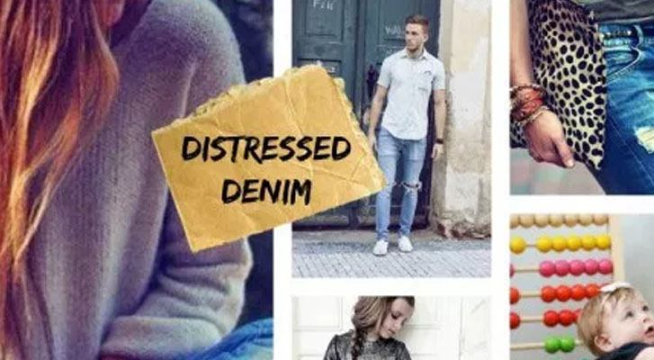 How To: Distressed Denim Knits
