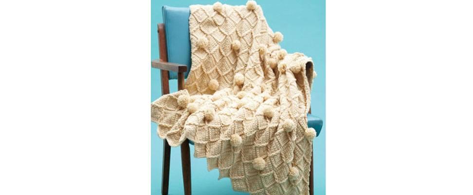 Lattice Pompom Blanket