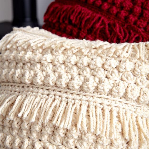 Bernat Tassel and Texture Crochet Pillow
