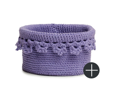 Lily floral edge basket in purple color