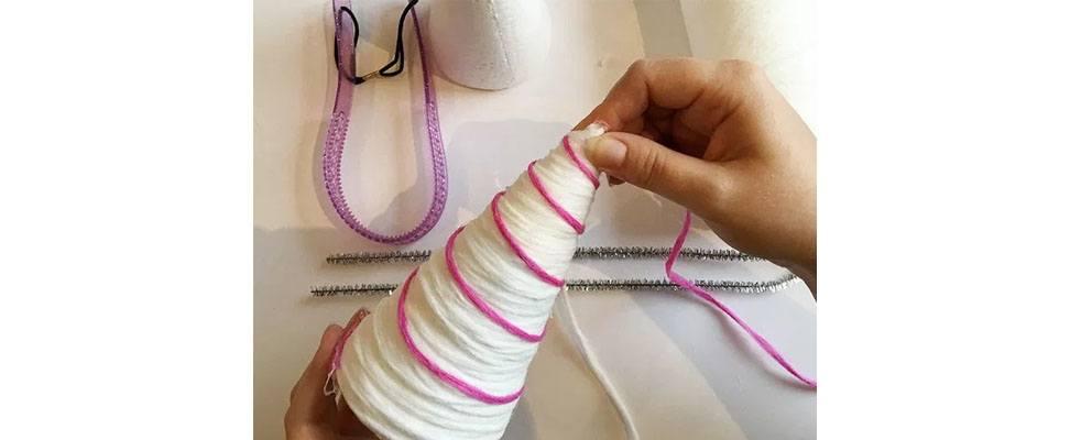 Yarn Unicorn Horn Step 3