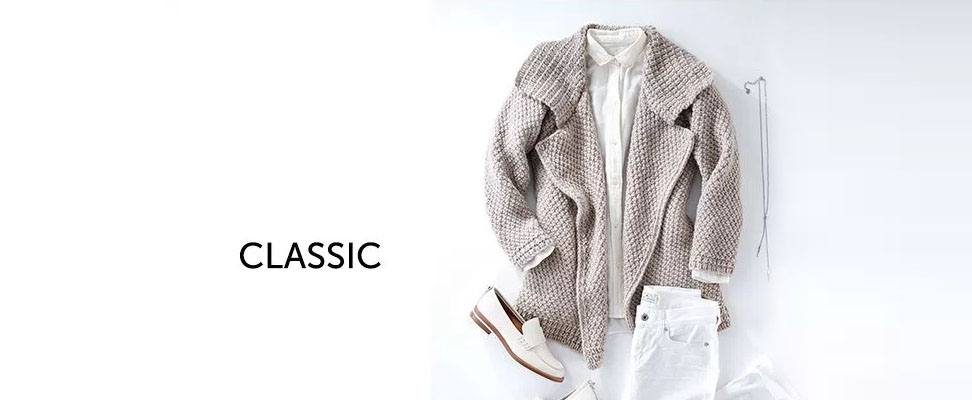 Patons Lapel Cardigan in Patons Classic Wool Roving yarn Classic